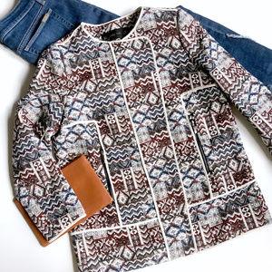 NWT Zara Tapestry Jacquard Blazer Jacket